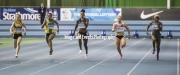 11.02.2017. EIS, Sheffield, England. The British Athletics Indoor team trials 2017. Shara Proctor, Charlotte Orton, Emma Suhonen, Daniella Blake and Rachel Highfield compete in heat 2 of the Womens 60 Meters.