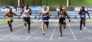 11.02.2017. EIS, Sheffield, England. The British Athletics Indoor team trials 2017. Action from the Mens 60 meters semi-final. Richard Kilty,John Otugade, Reuben Arthur, Joshua Brown and Sam Osewa.