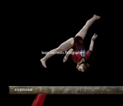 23.03.2019. Resorts World Arena, Birmingham, England. The Gymnastics World Cup 2019Aliya MUSTAFINA (RUS) during the Womens beam rotation with a score of 11.866. Finished the competition with a Gold Medal