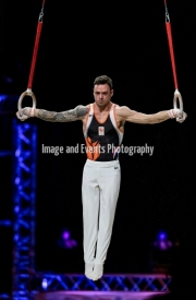 23.03.2019. Resorts World Arena, Birmingham, England. The Gymnastics World Cup 2019Bart DEURLOO (NED)  in the Mens Rings