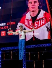 23.03.2019. Resorts World Arena, Birmingham, England. The Gymnastics World Cup 2019NIKITA NAGORNYY (RUS)  in the Mens Rings Competition