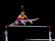 22.03.2019. Resorts World Arena, Birmingham, England. The Gymnastics World Cup 2019THAIS FIDELISN (BRA) during the Womens uneven bars with a score of 12.233. Finished the competition with a Bronze Medal