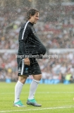 Manchester, England.10th June,2018.John Bishopduring the Soccer Aid charity football match between an England X1 and a World X1. Each team of A-list celebrities and Sporting legends are fundraising for UNICEF.© Andy Gutteridge/ Image and Events/ Alamy Live News