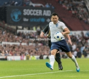 Manchester, England.10th June,2018.Mark Wrightduring the Soccer Aid charity football match between an England X1 and a World X1. Each team of A-list celebrities and Sporting legends are fundraising for UNICEF.© Andy Gutteridge/ Image and Events/ Alamy Live News